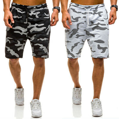 Casual Mens Camouflage Summer Army Combat Camo Work Cargo Shorts Pants Trousers