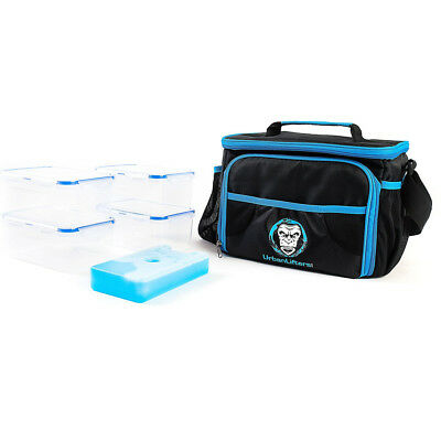 Meal Management System Food Gym Bag Cooler Meal Prep Ice Packs 4 Containers