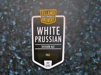 Elland White Prussian Beer Pump Clip Sign