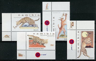 Namibia 2018 MNH Small Felines Serval Caracal 4v Set Wild Cats Animals Stamps