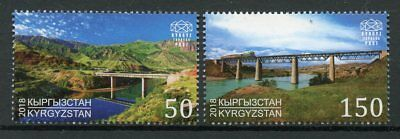 Kyrgyzstan KEP 2018 MNH Bridges Europa 2v Set Architecture Tourism Stamps