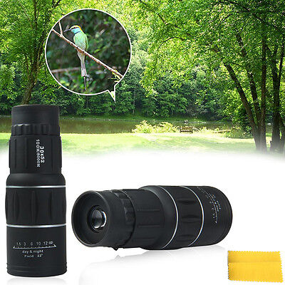 Pocket 30x52 HD Waterproof Optical Monocular Hiking Telescope Day Night Vision