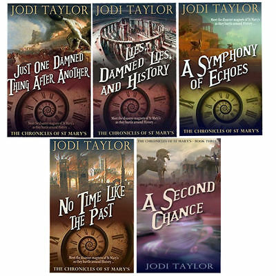 Jodi Taylor Collections Symphony of Echoes No Time Like the Past 6 Books Set NEW