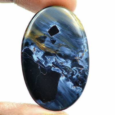 Cts. 38.50 Natural Chatoyant Blue Pietersite Cab Oval Cabochon Loose Gemstones