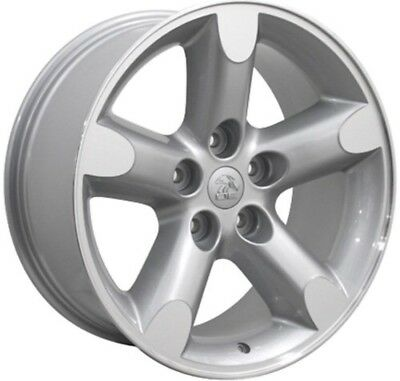 Bright Sparkle Silver Machined OEM Wheel for 2003-2005 Dodge Ram 1500-17x8