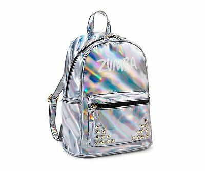 RARE!Zumba FUNKED UP BACK PACK Bag  Silver Glam!