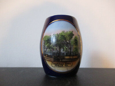 Circa 1910 Souvenir Toothpick Holder Longfellow's Home Portland Maine #BCB