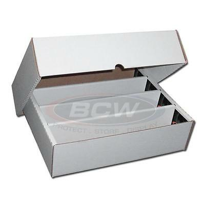 5x 3200 CT COUNT BCW Corrugated Cardboard Storage Boxes (FULL LID) box