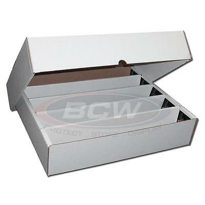 5x 5000 Count CT Storage Box BCW Corrugated Cardboard Storage Boxes (FULL LID)