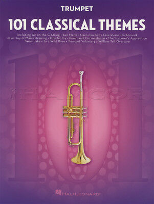 101 Classical Themes for Trumpet Sheet Music Book Mozart Bach Handel Chopin