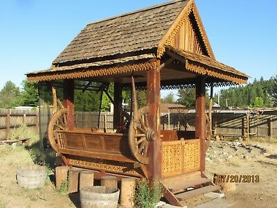 UNIQUE Teak and Rosewood Gazebo from Thailand, MONGO BUILT!!