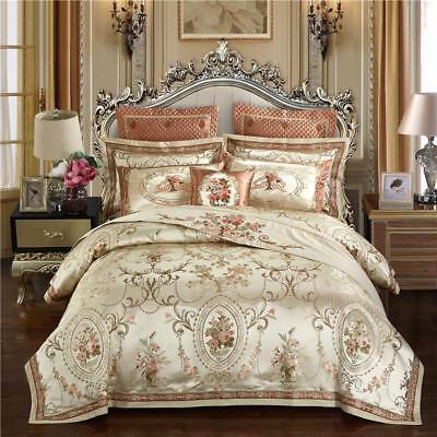 25f6754de9fc Europe Luxury Royal Bedding Sets Queen King Size Satin Duvet Cover Bed Cover