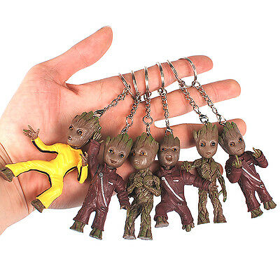Cute Keychain Baby Groot Guardian of the Galaxy Figure Modle Doll Keyring Gift