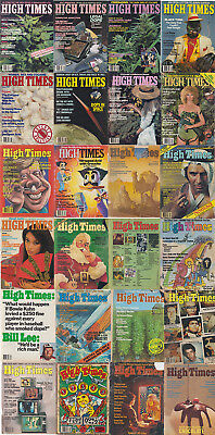 Vintage High Times Magazine Lot 70s 80s (19 Issues + 5 Front Covers)