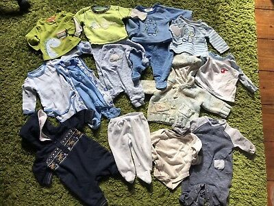Baby Boy Autumn Winter 14 Bundle Next Mothercare cardigans rompers 0-3 months