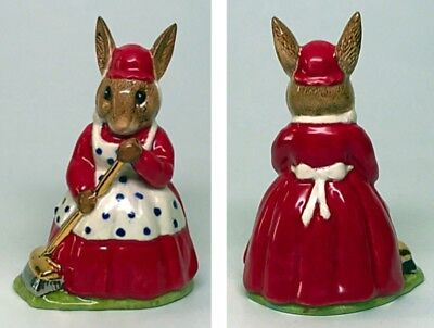 "Red Dress - Royal Doulton Mrs Bunnykins Figurine ""Cleen Sweep"" DB6"