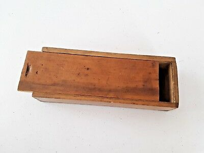VINTAGE SMALL TOOL DIE & TAP OR PENCIL WOODEN BOX   8 x 3""