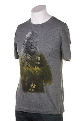 Star Wars Jem Men s Chewbacca Ombre Graphic-Print T-Shirt Monument Grey XL b93c8c8c7