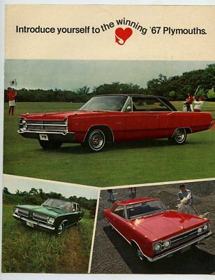 Automobile advertising brochure/booklet, 1967 Plymouth, 6 pages, m27299