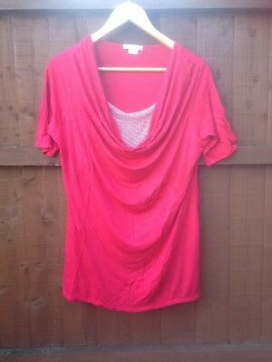 Mamas And Papas Red maternity Top size 16/18