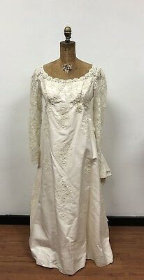 VTG 1970s Satin Lace Wedding Dress, Upcycle, Reconstruction