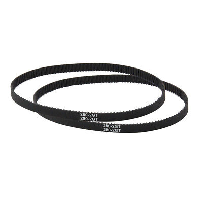 UK_ GT2 Closed Loop Timing Belt 110-852mm Rubber Synchronous 3D Printer Parts Gr