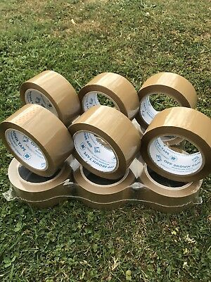 LOTS de 12 ROULEAUX SCOTCH MARRON  RUBAN ADHESIF  50mm x 80 M
