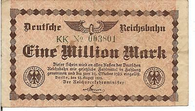 GERMANY, 1 MILLION MARK, (German Railroad) , P#S1011, 1923