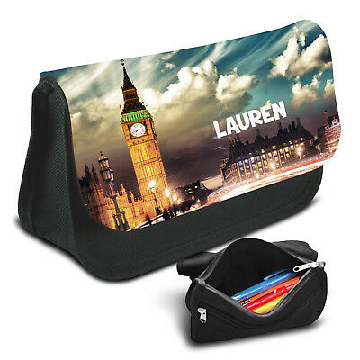 London Personalised Pencil Case Game School Bag Kids Stationary - 18