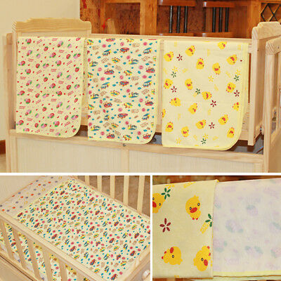 UK_ Baby Infant Kid Waterproof Bedding Cartoon Cover Pad Diaper Nappy Urine Mat