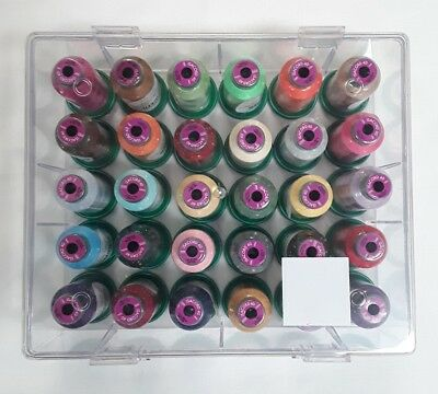 Isacord Quality Embroidery Thread, 30 Assorted Spools Gift Box  Set