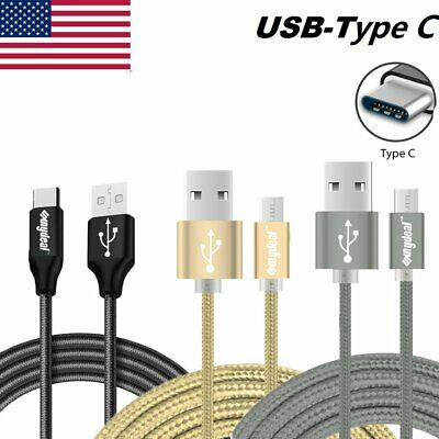 6FT LONG Braided USB-C Type-C 3.1 Data Sync Fast Charger Charging Cable Cord