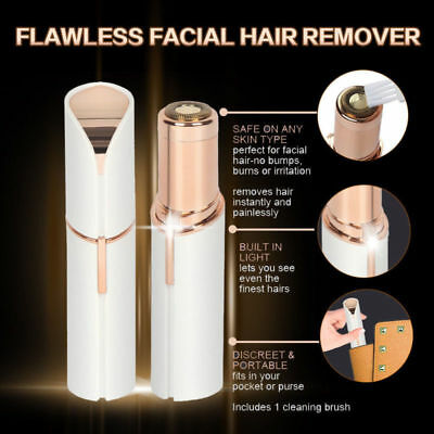 Hot Facial Finishing Hair Remover Women Touch Flawless Painless Lipstick Design