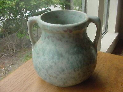 Vintage American Arts And Crafts Pottery Handled Bowl Burley Winter