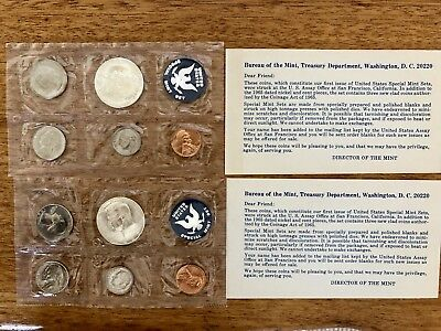 1965-Special US Mint coin set Uncirculated in original envelope Lot of 2