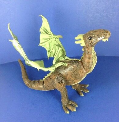 Dragonology Wyvern Green Winged Dragon Poseable Plush Toy 2006