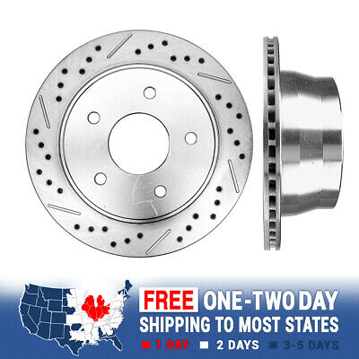 Front Drill /& Slot Brake Rotors /& METALLIC Pads For Chevy S-10 Jimmy Sonoma 2WD