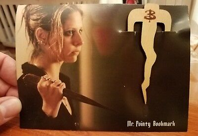 Loot Crate Exclusive Buffy the Vampire Slayer Mr. Pointy Wooden Bookmark
