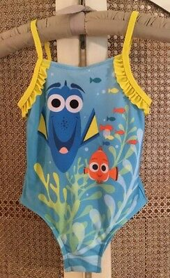 Disney Girls Swimsuit One Piece Size 5T Finding Dory Blue