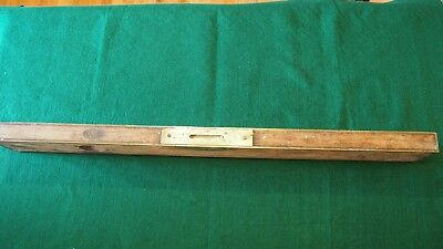 "RARE 30 Inches 30"" Vintage Stratton Brothers Rosewood Brass Level"