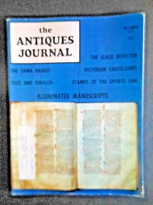 Antiques Journal Illuminated Manuscripts Olympic Stamps McKee Glass Tile Tobacco