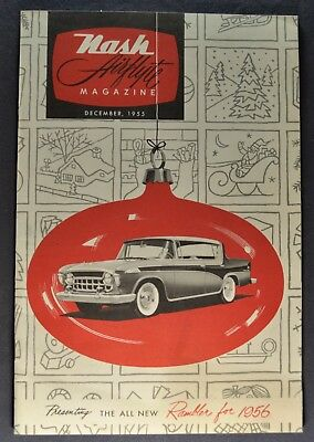 1956 Nash Airflyte Magazine Brochure Rambler Excellent Original 56