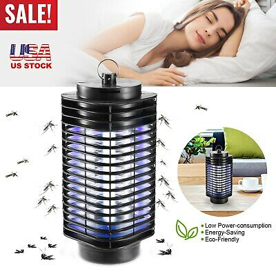 Mosquito Fly Bug Insect Zapper Killer Indoor Outdoor Electronic LED Trap Lamp US
