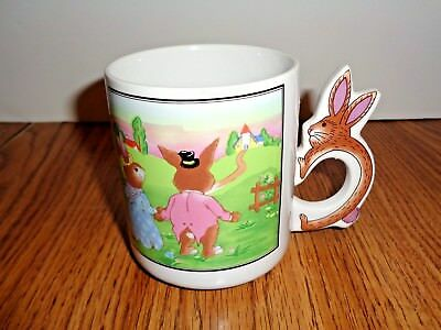 Peter Cotton Tail Rabbit Coffee Mug Tea Cup with Bunny Shaped Handle Easter
