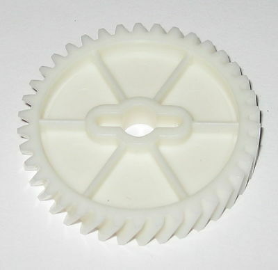 Thermoplastic Helical Gear - 6 mm Round Bore with Slotted Hub - 38 Teeth - 40 mm