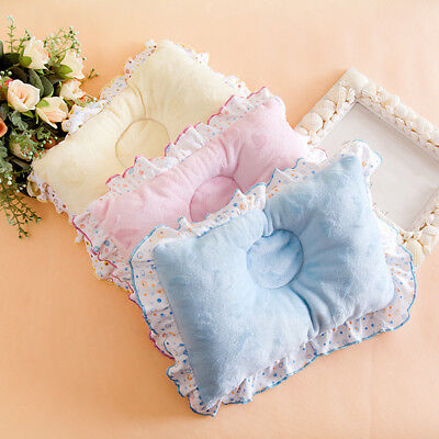 Uk_ Newborn Infant Baby Anti Roll Baby Pillow Prevent Flat Head Neck Support Kaw