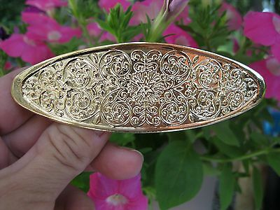 Vtg Nos Gold Lightweight Metal Star Middle Hair Barrette French Clip 70's 80's