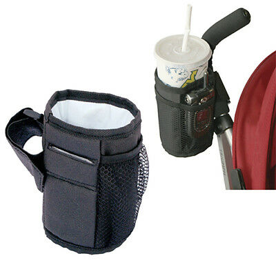 UK_ Baby Stroller Bag Mug Cup Holder Bottle Pram Buggy Organizer Ornate Braw