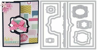 Sizzix Thin Framelits Die Set ~Royal Flip-Its Card Code 659634 (Special Was $26)
