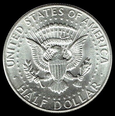 "1964-D Kennedy Half Dollar 90% SILVER US Mint Coin ""Average Circulation"""